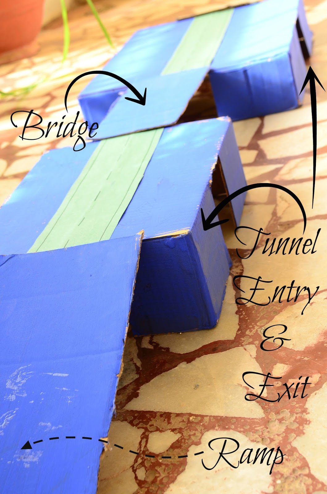The Practical Mom: DIY Tunnel & Ramps for Toy Cars