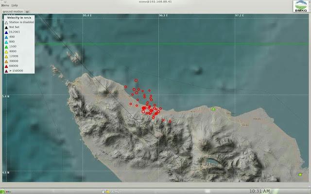 Hingga Sabtu Pukul 18.00 WIB. Gempa di Pidie Jaya sudah 70 kali