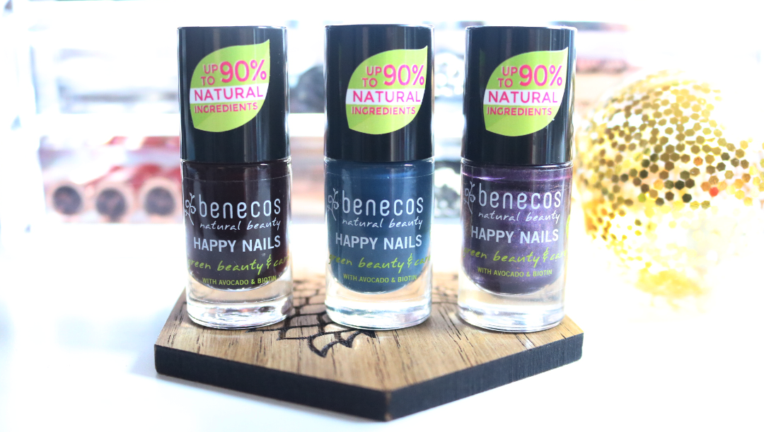 Benecos Natural Nail Polishes in Vamp, Nordic Blue & Galaxy - Review & Swatches