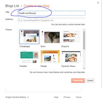 steps to create a blog