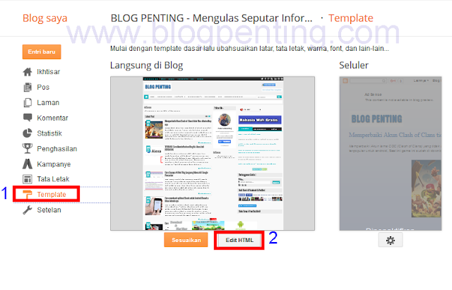 Blog Penting Template