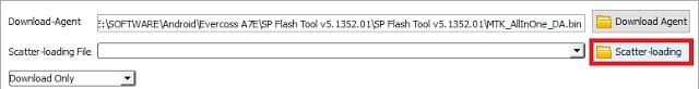 Tutorial Cara Flash Evercoss A7G Dengan Mudah Melalui Flashtool
