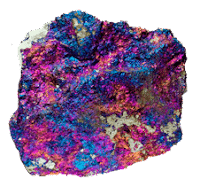 Calcopirita multicolor iridiscente (Patina de alteracion)