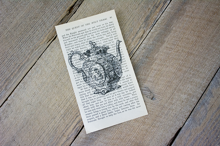 Printing on Book Pages - DIY Book Page Art