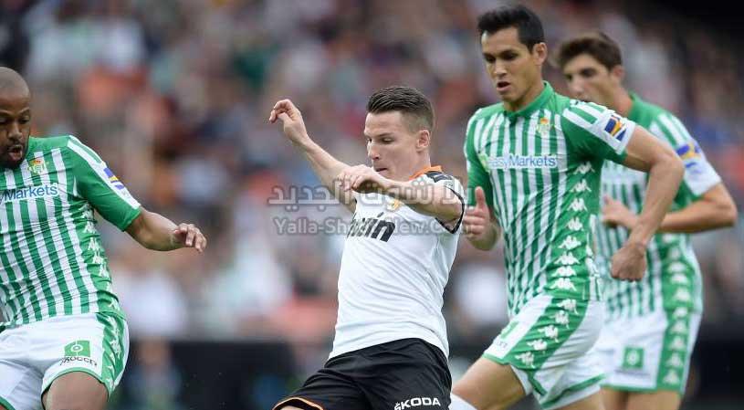 فالنسيا يتغلب على نادي ريال بيتيس بثنائية في الدوري الاسباني