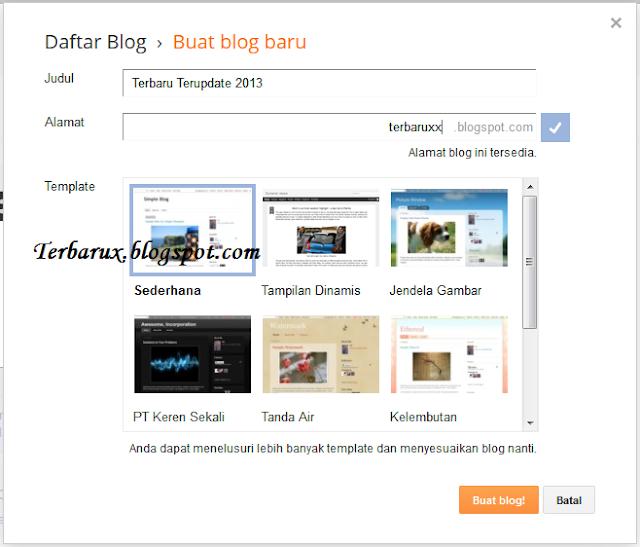 Cara Mudah Membuat Blog google