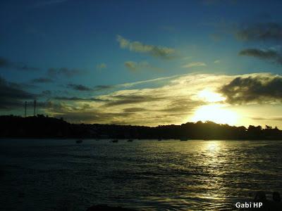 Pôr do sol na Ponta do Xaréu em Itacaré
