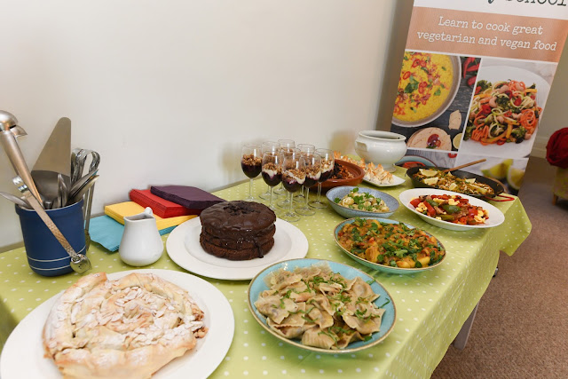 A vegan feast at the Vegetarian Society cookery school, cheshire