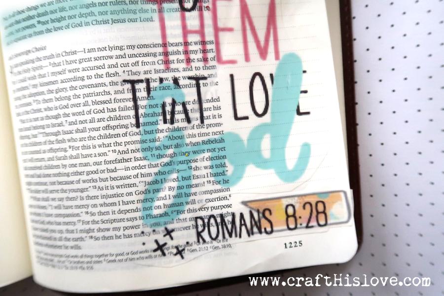 Bible Journaling Romans 8:28