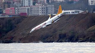 Son Dakika: Uçağın iniş anı ortaya çıktı! İşte o görüntüler