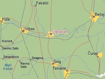 srbobran mapa Per@ Travel: SRBOBRAN srbobran mapa