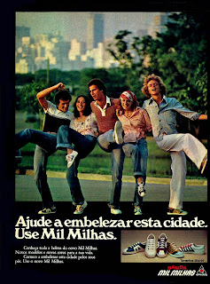 propaganda Bamba Mil Milhas da Alpargatas 1975. moda anos 70. propaganda decada de 70. reclame anos 70. Oswaldo Hernandez.