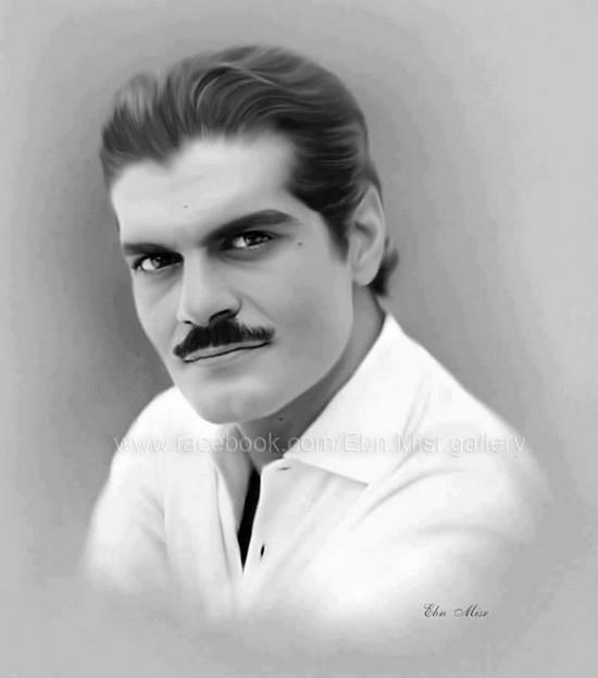 صور ورسومات بالرصاص ولوحات زيتية ل عمر الشريف