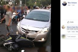 Kecelakaan Pengendara Sepeda Motor di Alun-alun Kota Serang 14-10-2018