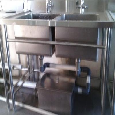 Harga Meja Double Sink Dua Lubang Panjang Sampai Dengan 2 Meter Rp 4 200 000 Tidak Termasuk Grease Trap