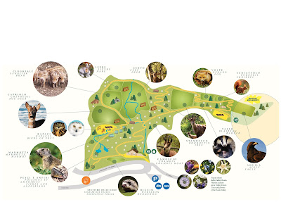 Mappa Percorso Parc Animalier d'Introd
