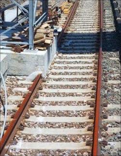 vía tren rota
