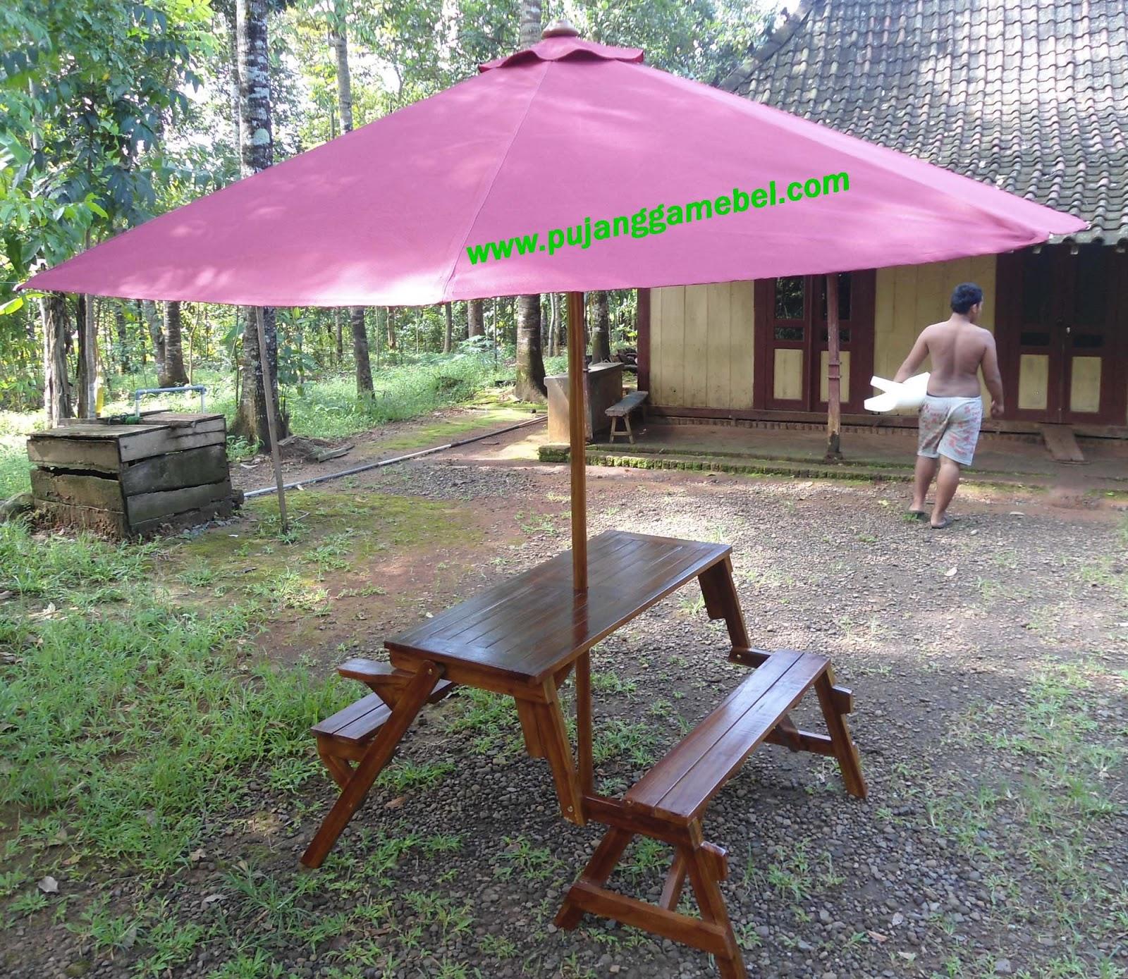Meja Kursi Magic + Payung