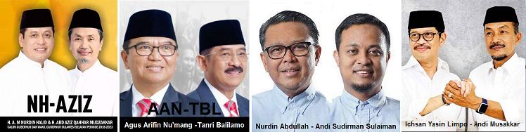 Pasangan calon gubernur dan wakil gubernur Sulawesi Selatan (Sulsel)
