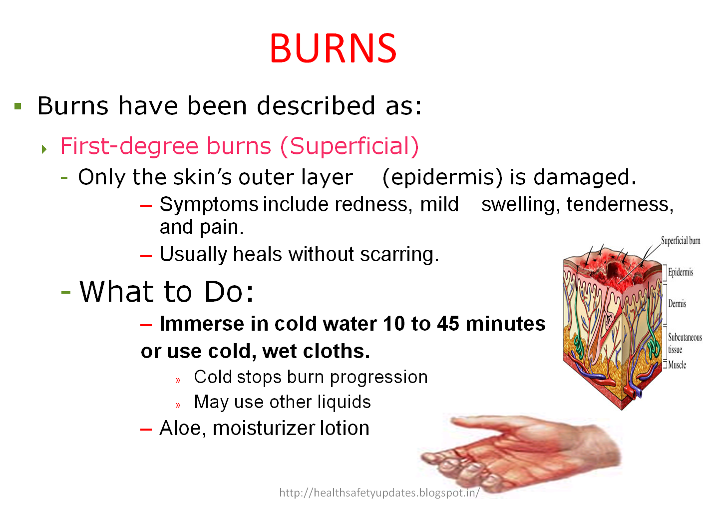 Type Of Burns Injury And It S First Aid Measures