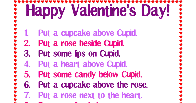 Ms Lane 39 S Slp Materials Spatial Directions Valentine 39 S Day