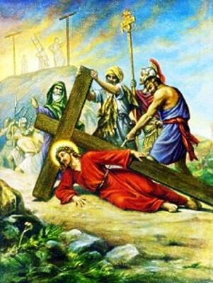 Viacrucis 9 - Jesus Cae Por Tercera Vez