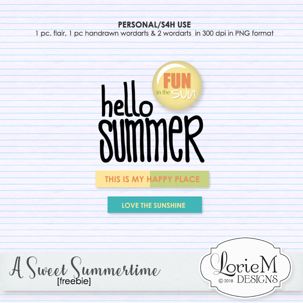 A Sweet Summertime, 10 Packs, 6 Packs, $1.50 Individual Packs + Freebie