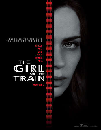 Poster Of The Girl on the Train 2016 English 700MB HDCAM x264 Free Download Watch Online