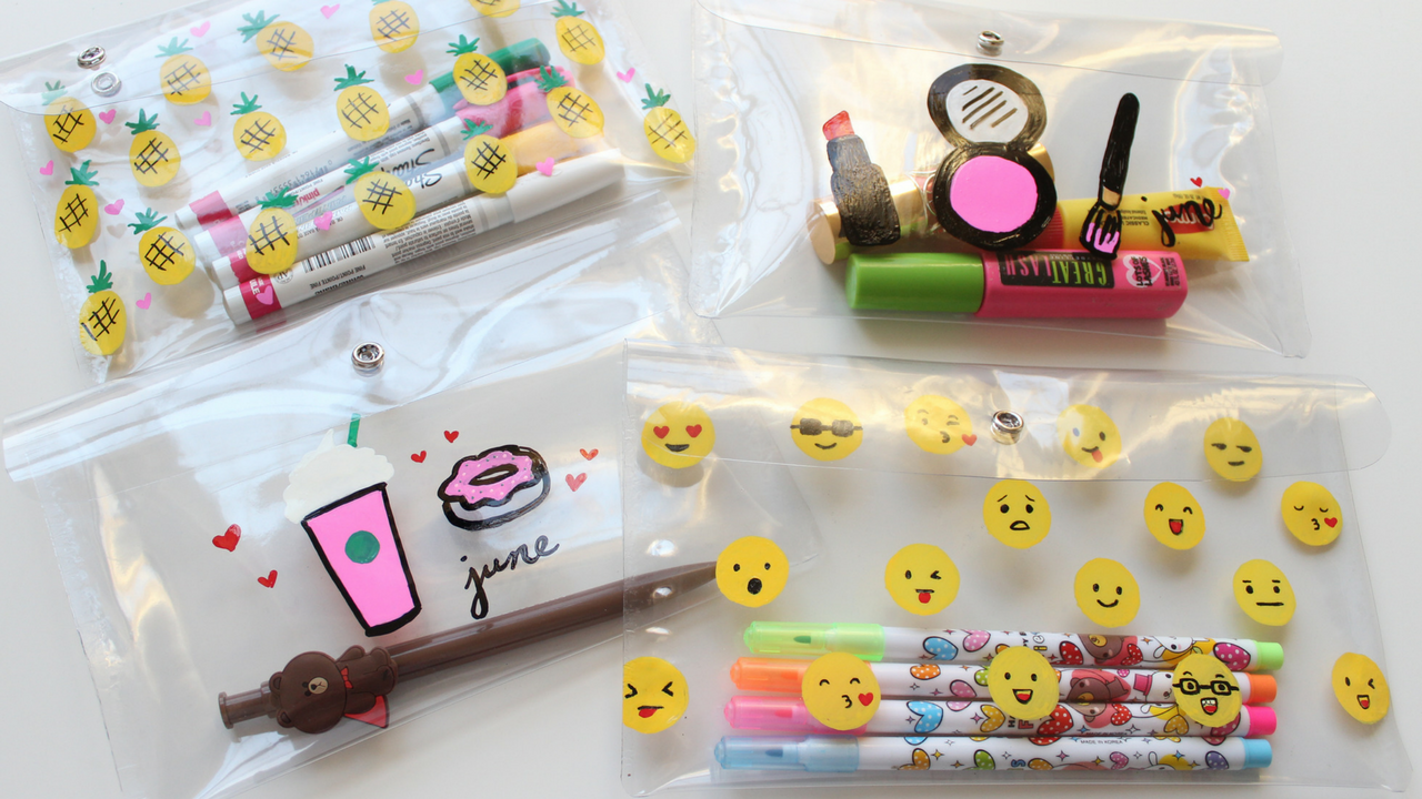 Diy Cute Pencil Case Diy Makeup Bag Starbucks Emoji
