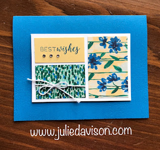 Stampin' Up! Stitched All Around ~ 2018-2019 Annual Catalog ~ Abstract Impressions DSP ~ www.juliedavison.com