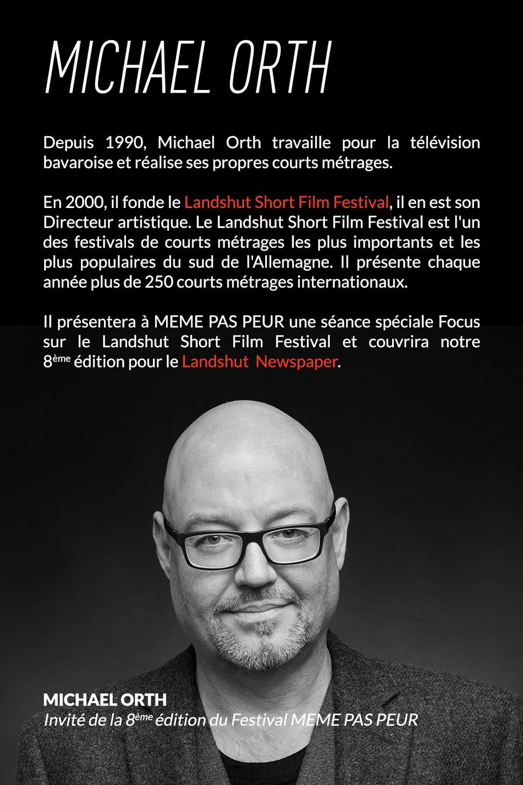 Michael Orth, invité de la 8ème édition du Festival MEME PAS PEUR