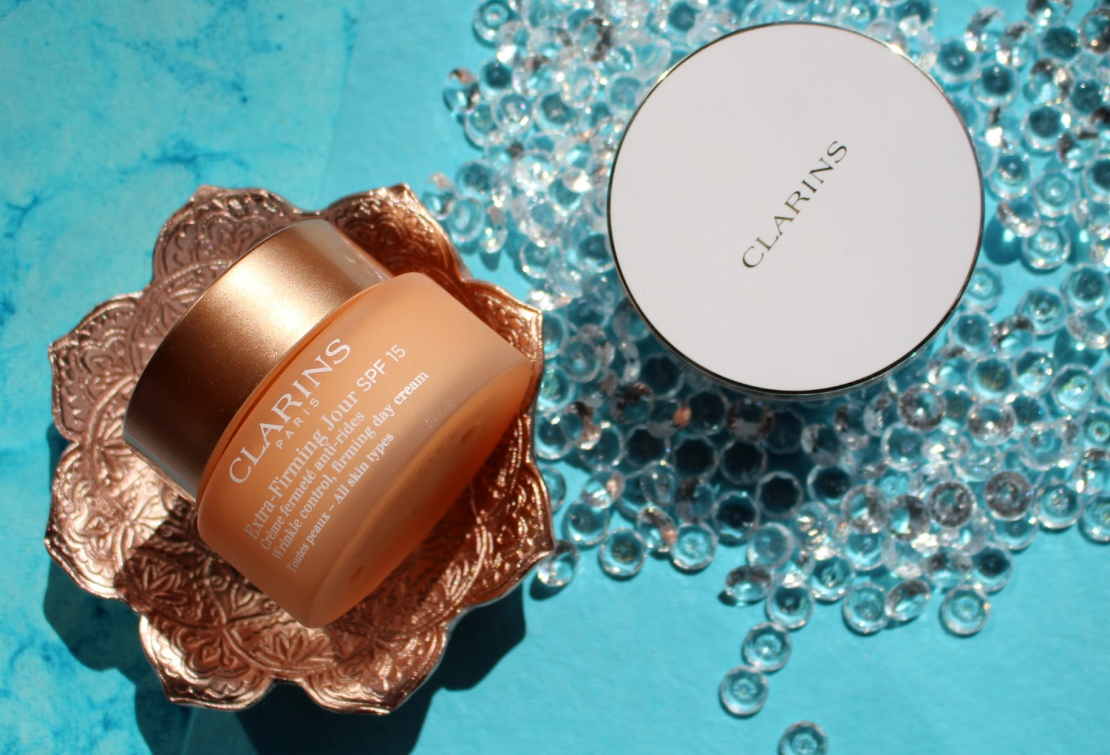 Clarins Extra Firming Jour Day Cream Spf15 And 15ml Night Everlasting Cushion Foundation