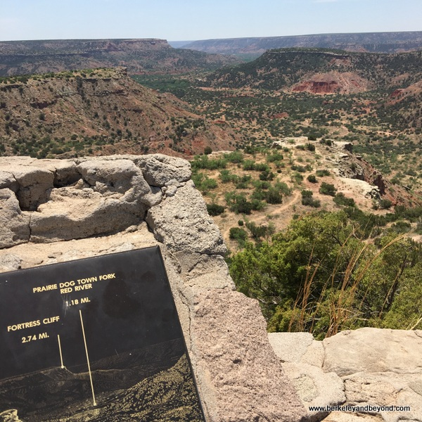 overlook at Palo Duro Canyon State Park in Canyon, Texas