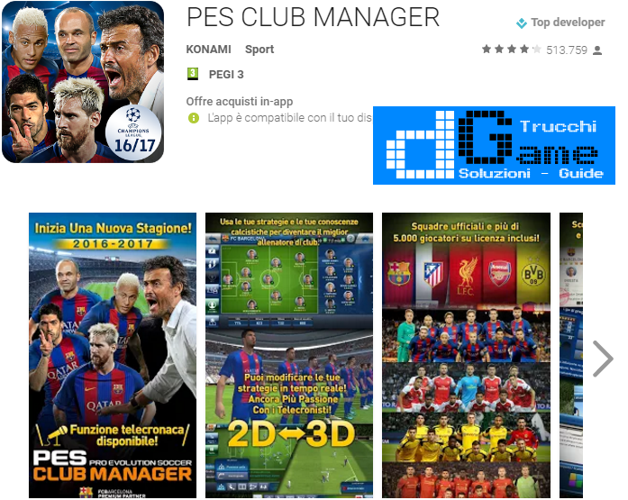 Trucchi Pes Club Manager Mod Apk Android v4.2