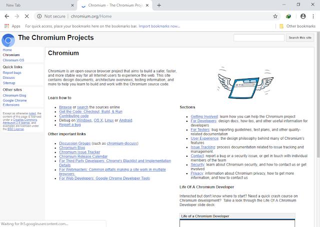 تحميل متصفح الأنترنيت Chromium Browser Chromium-72.0.3583.0