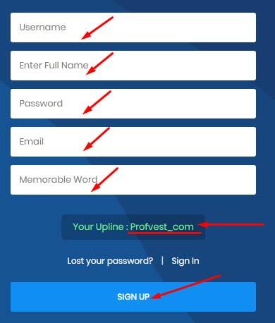 Регистрация в Token Logic 2