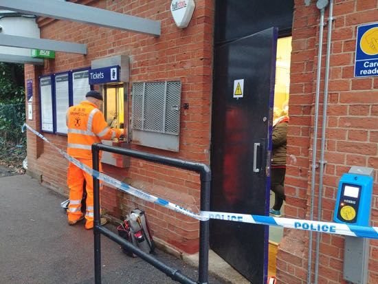 Brookmans Park station ticket office - Wednesday 19 December 2018 Image by North Mymms News released under Creative Commons