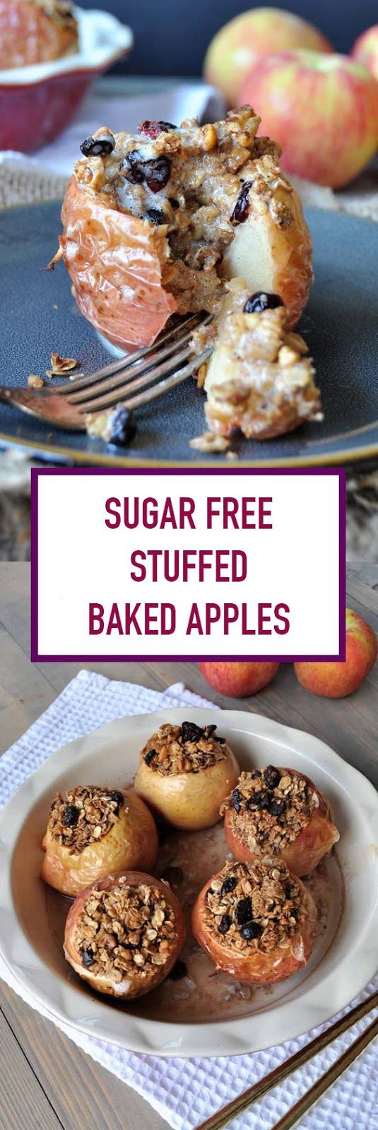 Sugar Free Stuffed Baked Apples