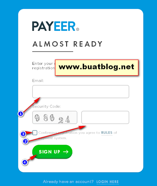 sign up payeer