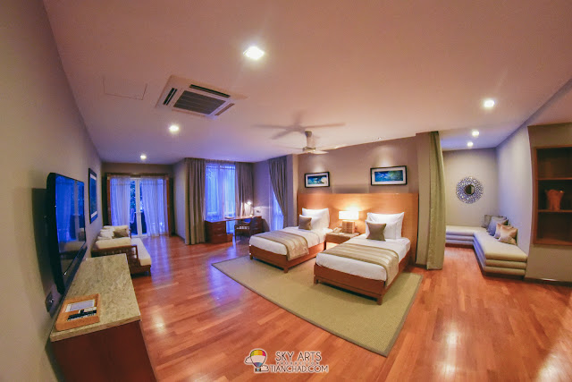 The Taaras Villa at Taaras Redang Beach Spa Resort with five bedrooms retreat