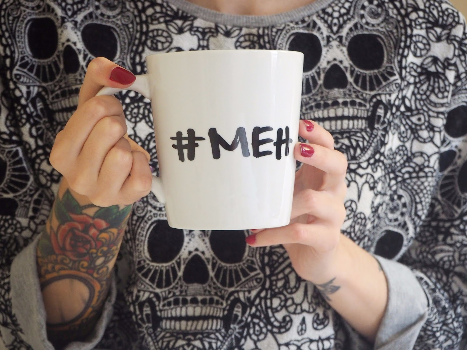 meh mug in focus