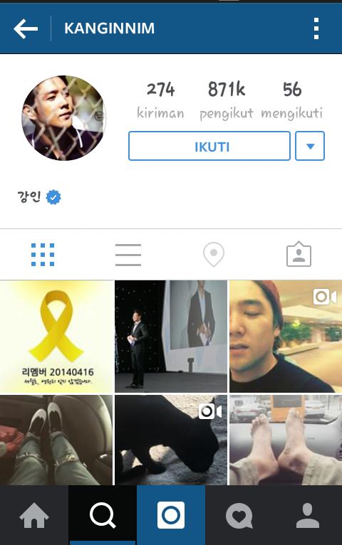 gambar nama akun account instagram kangin suju
