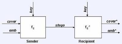 Gambaran Sistem Steganografi