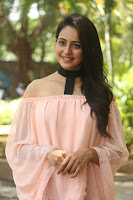 Rakul Preet Singh in lovely Pink Crop Top and Black Trousers at Jaya Janaki Nayaka success meet 046.JPG