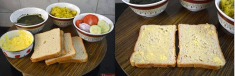 How to make masala sandwich toast