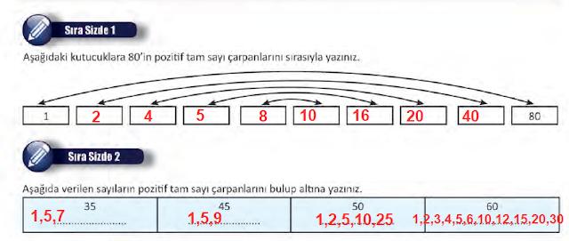 8. Sınıf MEB Yayınları Matematik 13. Sayfa Cevapları 1. Ünite