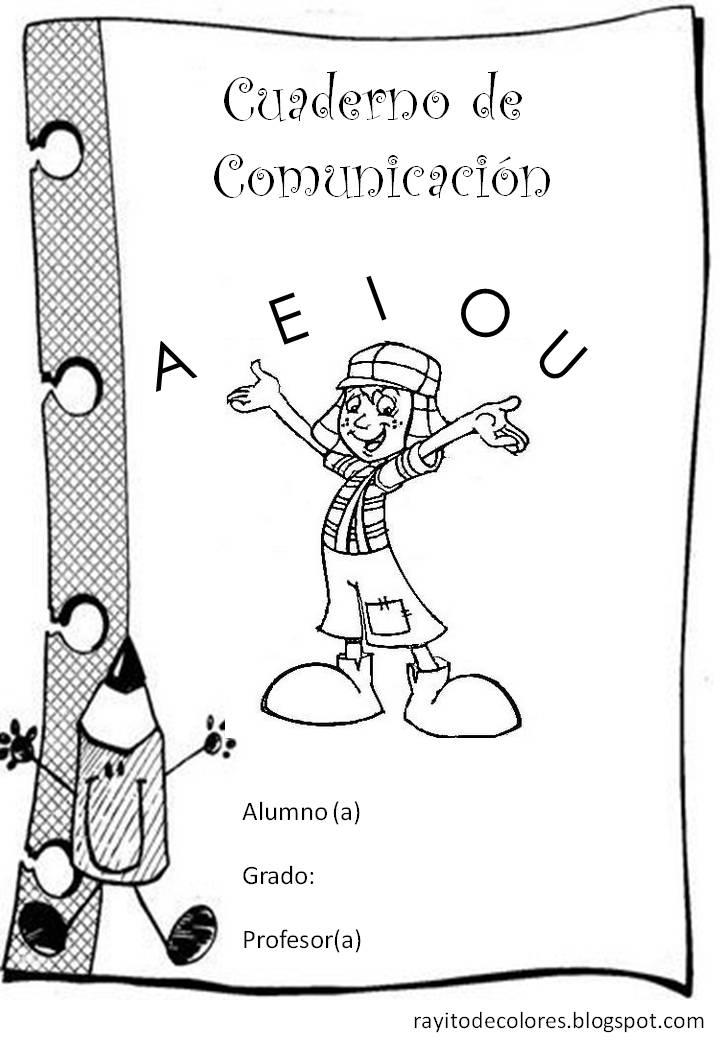 Carátula para cuaderno de lenguaje comunicación