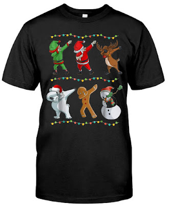 Funny Dabbing Santa and Friends T Shirts Classic T-Shirt Hoodie