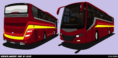 Design Bus Edelweis HD V-2.0 Red