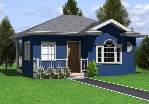 Beautiful small house design with 2 bedroom and 1 bathroom for Model house design 2016